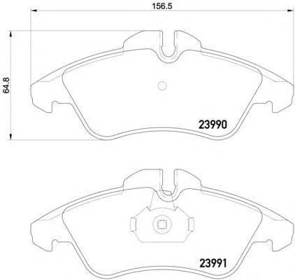 Колодки тормозные дисковые, комплект BEHR-HELLA 8DB3550144818DB355014481