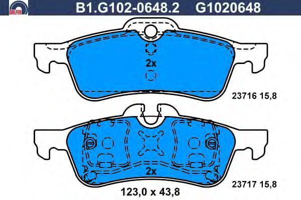 Колодки тормозные дисковые Galfer B1G10206482B1G10206482