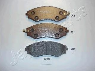 Колодки тормозные дисковые Japanparts PAW05AFPAW05AF