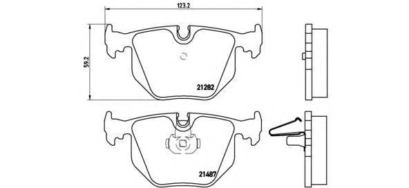 Колодки тормозные задние Brembo P06044P06044
