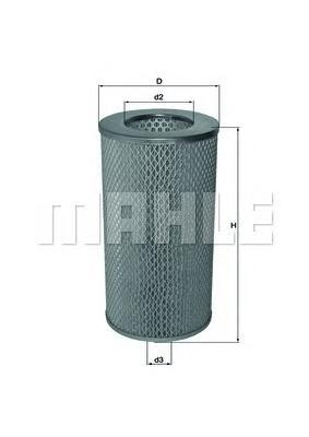 Фильтр воздушный Mahle/Knecht LX882LX882