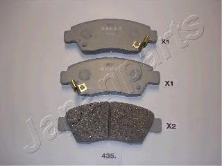 Колодки тормозные дисковые Japanparts PA435AFPA435AF