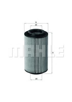 Фильтр масляный Mahle/Knecht OX1537D2OX1537D2