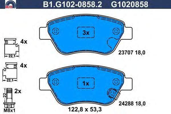 Колодки тормозные Galfer B1G10208582B1G10208582