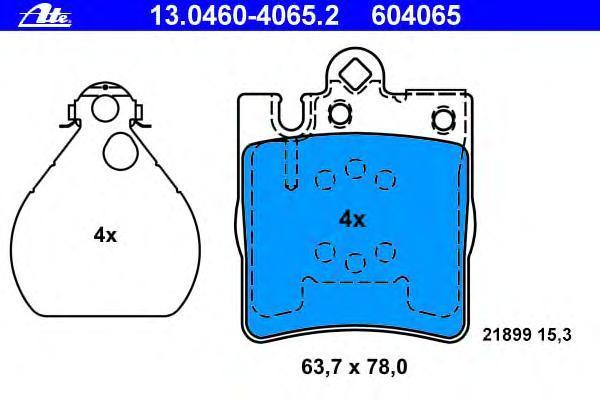 Колодки тормозные дисковые Ate 1304604065213046040652