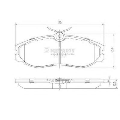 Колодки тормозные передние Nipparts J3601056J3601056