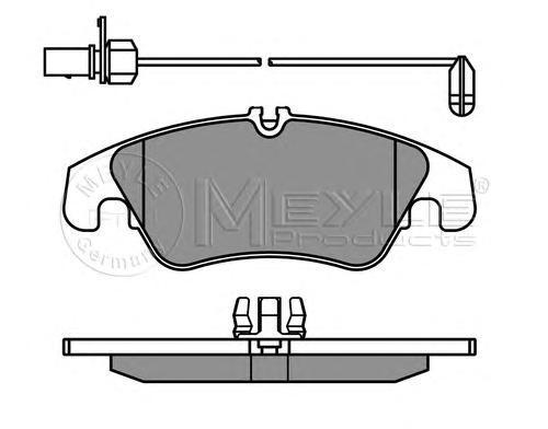 Колодки тормозные задние Meyle 0252474319W0252474319W