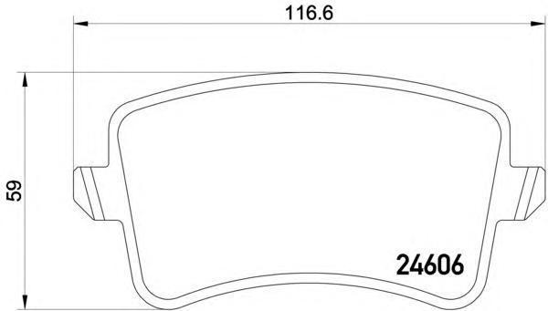 Колодки тормозные задние Textar 24606022460602