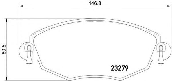 Колодки тормозные дисковые, 4 шт Textar 23279042327904