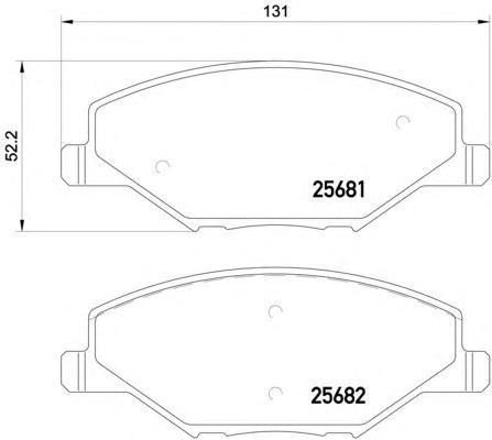Колодки тормозные дисковые, комплект BEHR-HELLA 8DB3550205218DB355020521