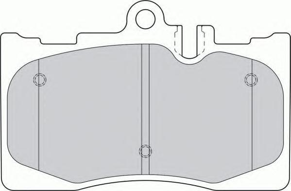 Колодки тормозные дисковые Premier Ferodo FDB1688FDB1688