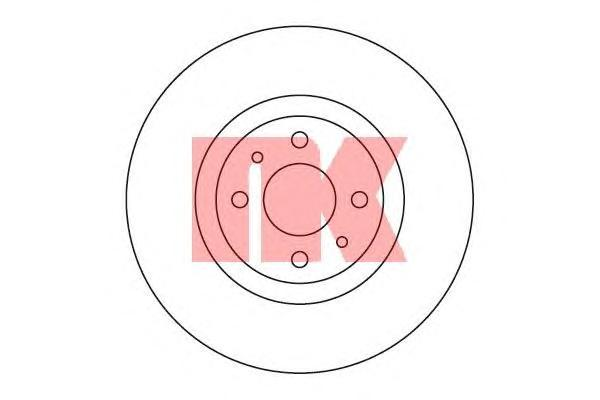 Диск тормозной NK 209923 2 шт комплект 2 шт209923