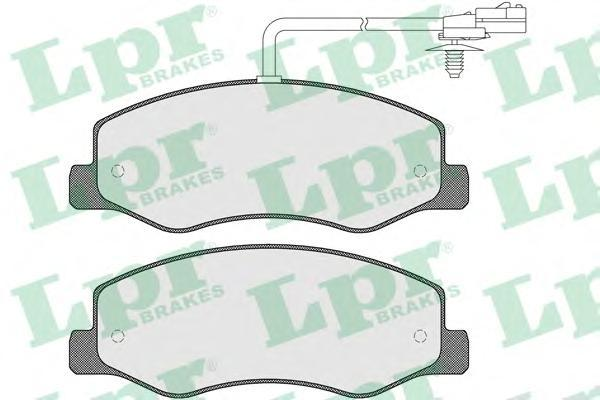 Колодки тормозные задние LPR / AP 05P157005P1570