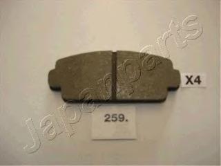 Колодки тормозные дисковые Japanparts PA259AFPA259AF