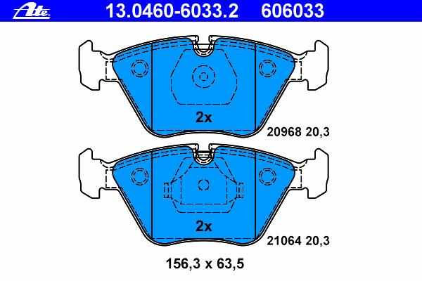 Колодки тормозные дисковые Ate 1304606033213046060332