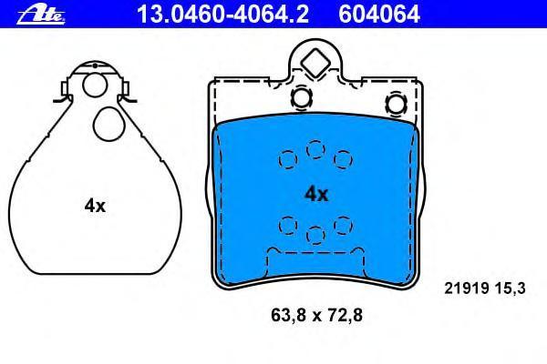 Колодки тормозные дисковые Ate 1304604064213046040642