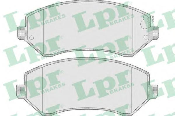 Колодки тормозные передние с датчикомLPR / AP 05P100505P1005