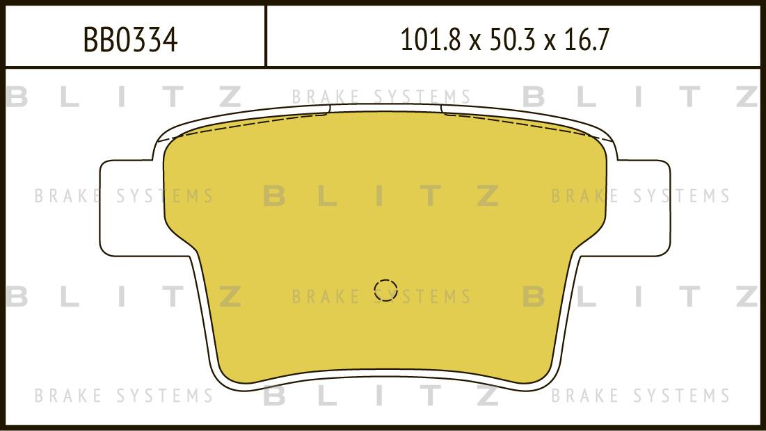 Колодки тормозные дисковые BLITZ автотовары BB0334BB0334
