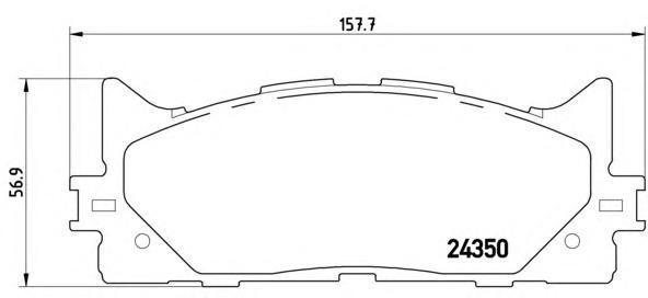 Колодки тормозные передние Brembo P83117P83117
