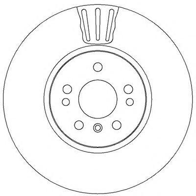 Диск тормозной передний вентилируемый Jurid 562403JC562403JC