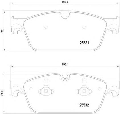 Колодки передние Textar MB ML GL 166 Textar 25531012553101