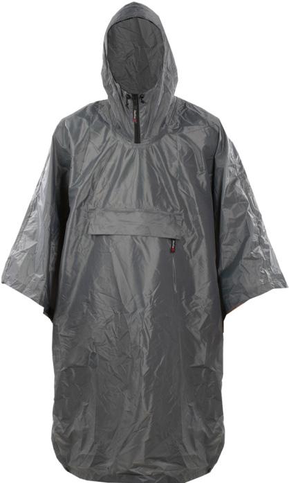 Дождевик Red Fox Poncho, цвет: серый. 06814. Размер универсальный06814Классическая накидка от дождя. Капюшон снабжен молнией и регулировкой объема. Упаковывается в нагрудный карман.