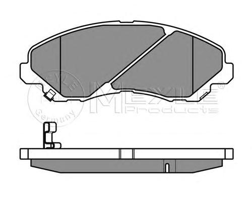 Колодки тормозные передние Meyle 0252358416W0252358416W
