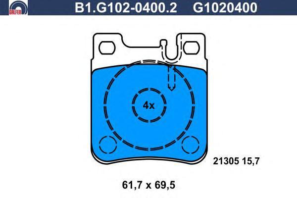 Колодки тормозные дисковые Galfer B1G10204002B1G10204002
