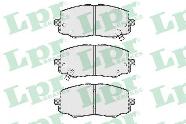 Колодки тормозные передние LPR / AP 05P163305P1633
