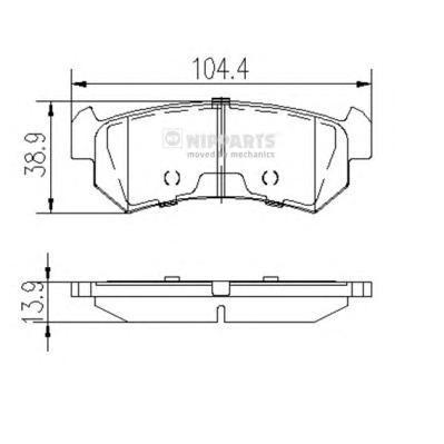 Колодки тормозные задние Nipparts J3610903J3610903