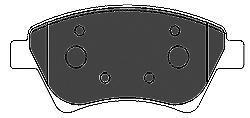 Колодки тормозные передние Mapco 66096609