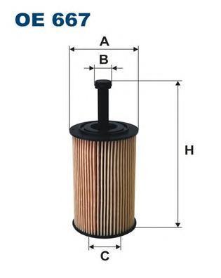 Фильтр масляный Filtron OE667OE667