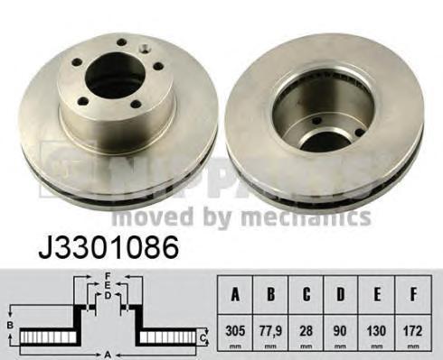 Диск тормозной передний Nipparts J3301086 комплект 2 штJ3301086