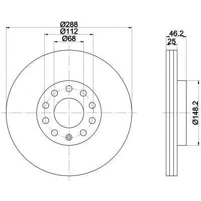 Диск тормозной передний PRO Textar 9205760392057603