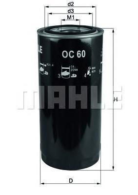 Фильтр масляный Mahle/Knecht OC60OC60