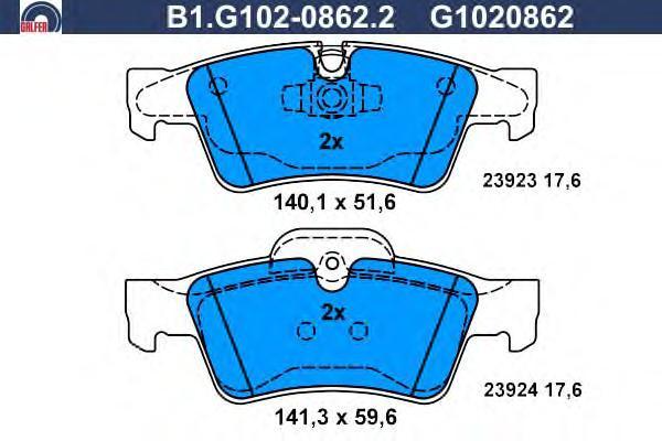 Колодки тормозные дисковые Galfer B1G10208622B1G10208622