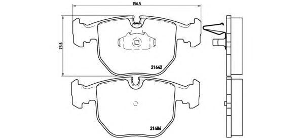 Колодки тормозные дисковые передние Brembo P06021P06021