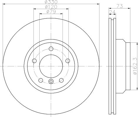 Диск тормозной передний вентилируемый Textar 9213780592137805