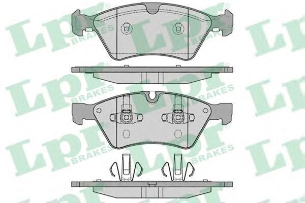 Колодки тормозные передние дисковые LPR / AP 05P125305P1253