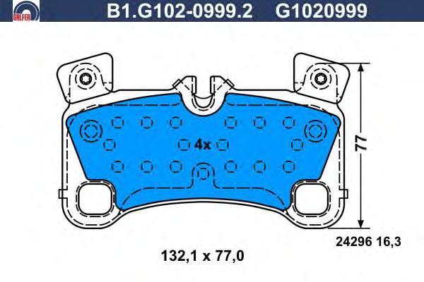 Колодки тормозные Galfer B1G10209992B1G10209992