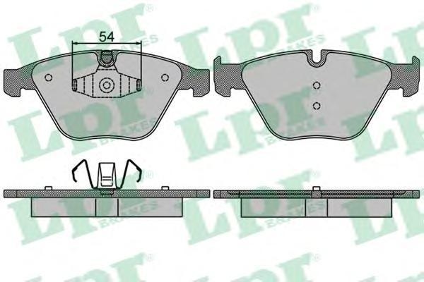 Колодки тормозные передние LPR / AP 05P150905P1509
