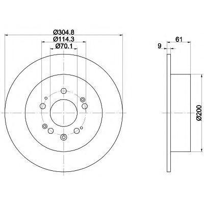 Диск тормозной Textar 92195100 комплект 2 шт92195100