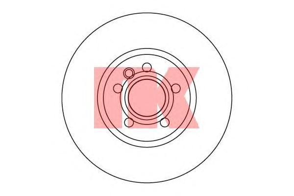Диск тормозной NK 204783 комплект 2 шт204783