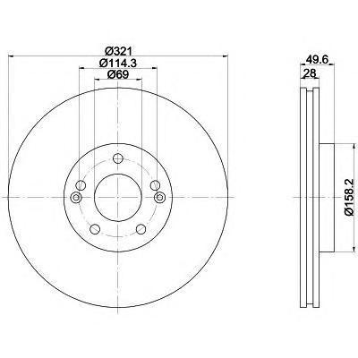 Диск тормозной передний вентилируемый Textar 9216600392166003