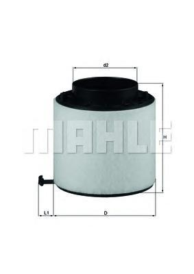 Фильтр воздушный Mahle/Knecht LX2092DLX2092D