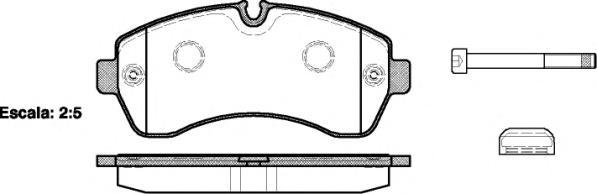 Колодки тормозные дисковые Remsa, комплект. 124300124300