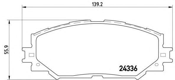 Колодки тормозные дисковые Brembo P83082P83082