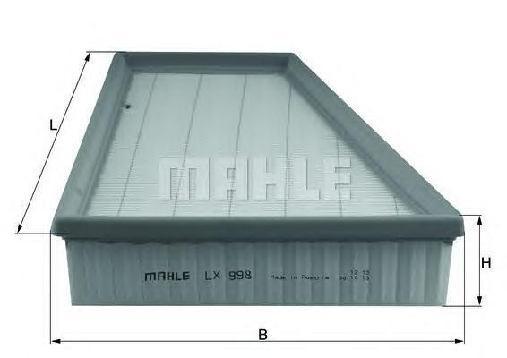 Фильтр воздушный Mahle/Knecht LX998LX998