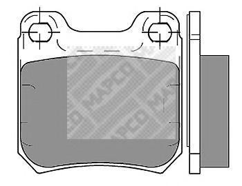 Колодки тормозные дисковые Mapco 63566356