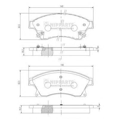 Колодки тормозные передние Nipparts N3600914N3600914